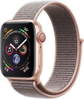 Wie%20neu: Apple Watch Series 4 | 40 mm | Aluminium | GPS + Cellular | gold | Sport Loop rosa