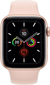 Wie%20neu: Apple Watch Series 5 | 44 mm | Aluminium | GPS | gold | Sportarmband rosa
