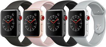 Wie%20neu: Apple Watch Series 3 | 38 mm | Aluminium | GPS | grau | Sportarmband schwarz
