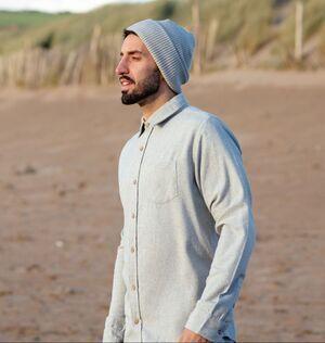 Men Recycled Organic Flannel Shirt