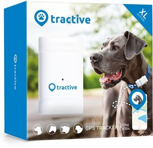 Tractive GPS Tracker XL für Hunde mit 6 Wochen Akkulaufzeit   EXKL. ABO